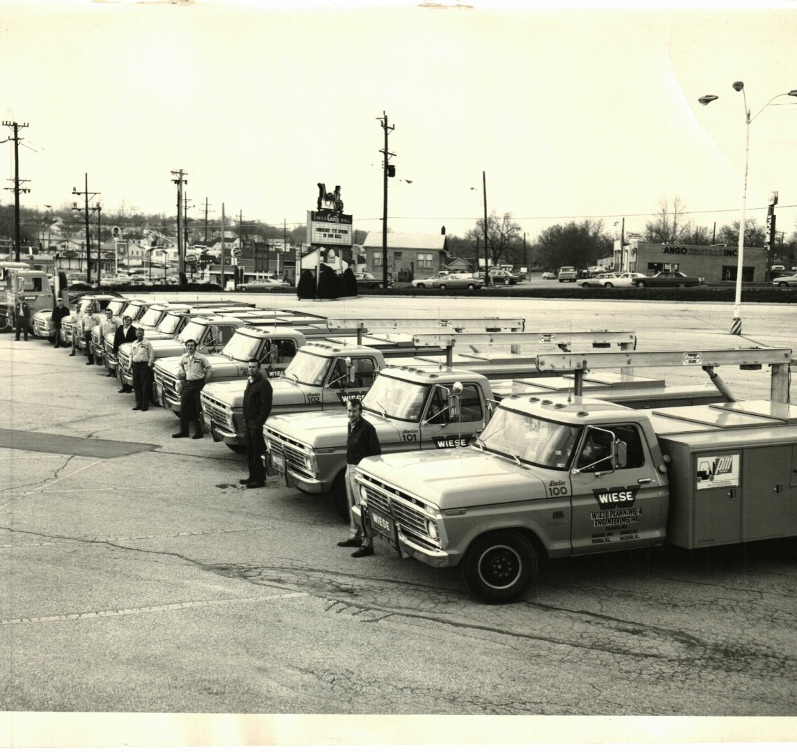 Wiese Employees Ready With Their Trucks For A Workday